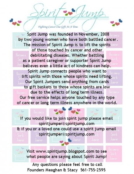 Here's a flyer about Spirit Jump